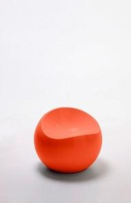Ball chair oranje